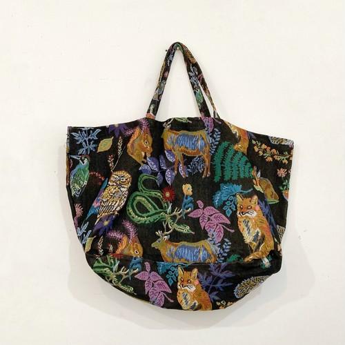 持つだけでオシャレ♥Nathalie Lete Market bag(Forest)