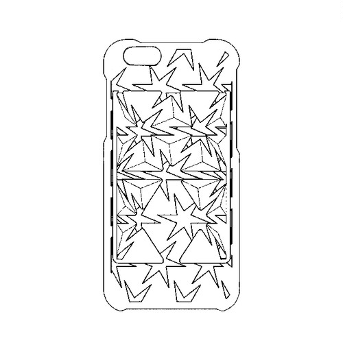 Auxetic pattern iPhone case 6 / 6s_White