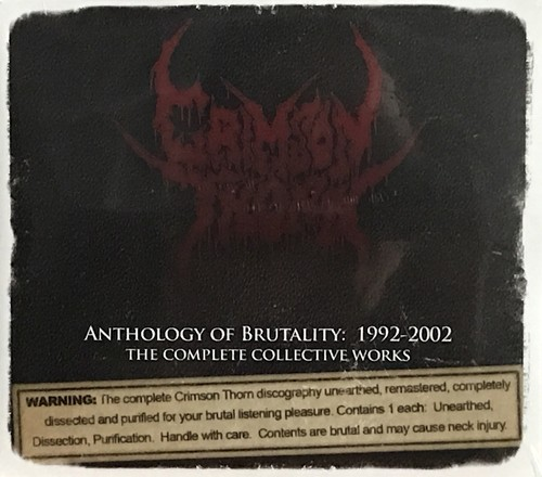 """CRIMSON THORN """"Anthology of Brutality: 1992-2002 The Complete Collective Works (3-CD Set)"""""""