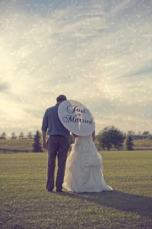 """ウェディングパラソル """"Just Married"""""""