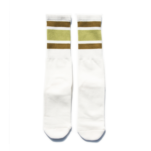 SURF SKATE CAMP #SSC Tube Socks Olive