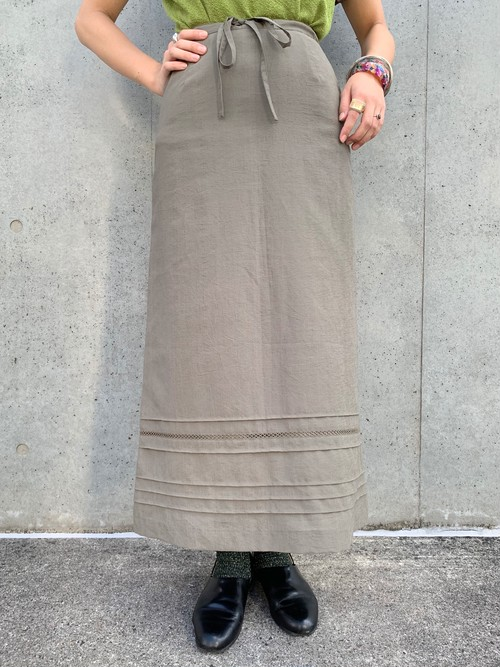 (TOYO) A-line polyester design skirt