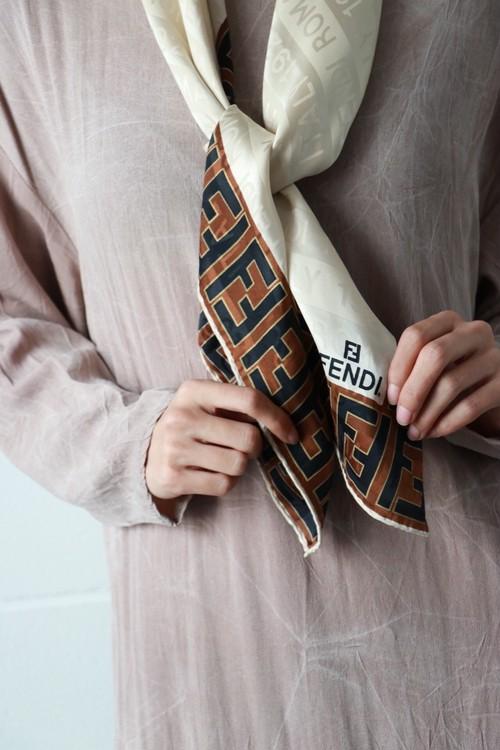 Fendi off white logo scarf