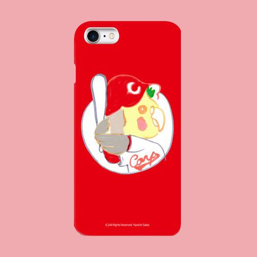 【1点もの】スマホケース「ぽぃちゃん カープ」Carp Red