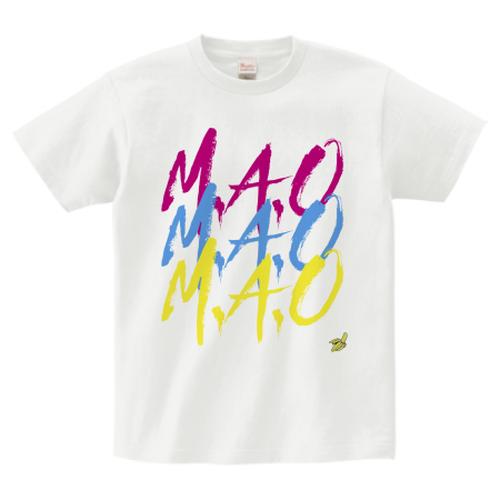 M.A.O / AGAINTS LOGO T-SHIRT WHITE