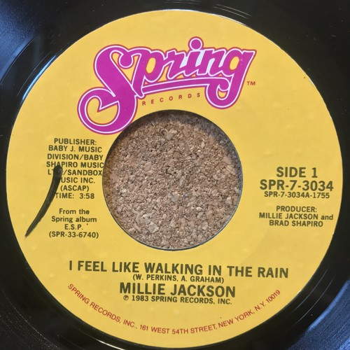 (7inch) MILLIE JACKSON / I FEEL LIKE WALKING IN THE RAIN(1983)