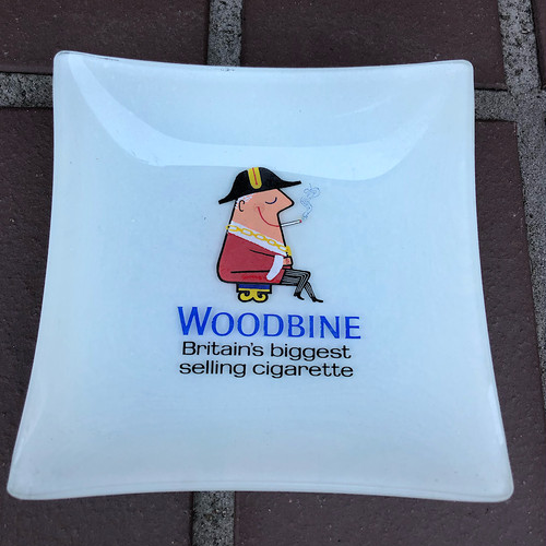 Vintage Woodbine Britain's Biggest Selling Cigarette Ashtray