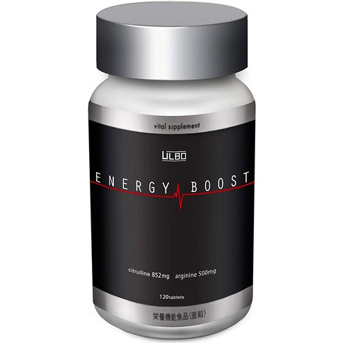 ULBO ENERGYBOOST シトルリン 亜鉛 アルギニン 栄養機能食品 120粒入り 国内生産