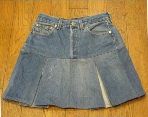 【送料無料】 Levi's501の古着リメイクデニムスカート