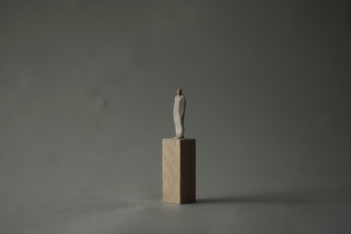 (075)wood figure-mini台付_044