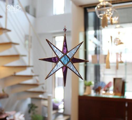 岩田けいこ*ステンドグラス キラキラシリーズ 八角形の星