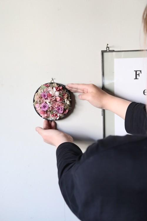 Preserved flower plate arrange S-[MOMOHANA]送料込