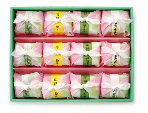 吉野の葛餅 フロ4色12  ギフト