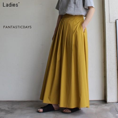 FANTASTICDAYS  スカート風ワイドパンツ GARDEN-82-01 (MUSTARD)