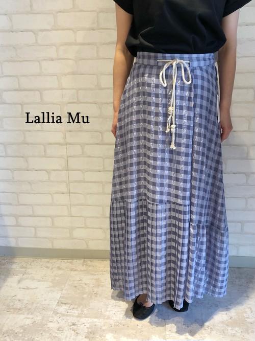 Lallia Mu/ギンガムチェックロングスカート/2112835(パープル)