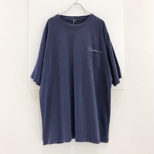 【ラスト1枚】connecter Tokyo used 加工 original pocket tee(navy)