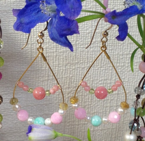 Candy hoop pierced earring