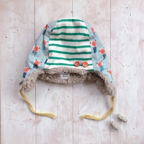 あったか冬帽子(小サイズ・50くらい)ライオンボーダー