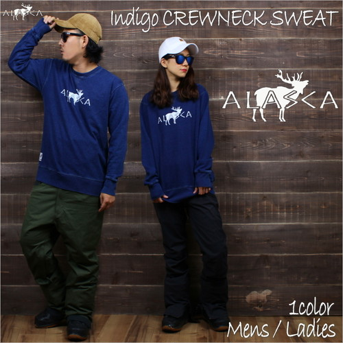 INDIGO CREWNECK SWEAT ALASCA moose as-41