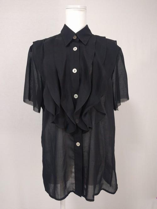 シースルーフリルシャツ