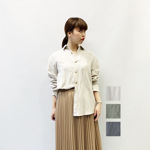 OUTERSUNSET(アウターサンセット) hand wash linen shirt 2020春物新作