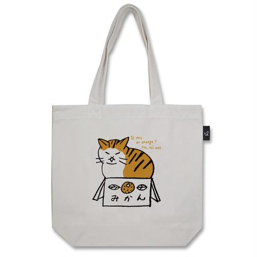みかん猫 トートバッグ (M:内ポケット付き)品番:nii-m-01