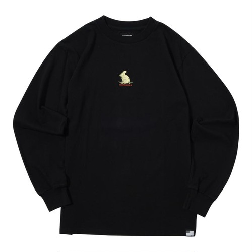WE'RE NOT OUT OF THE WOOD L/S TEE (BLACK) [TH-17AW-002-LS]