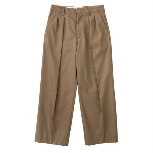 【WOMEN'S】GABARDINE DOUBLE TUCK PANTS / ギャバジンダブルタックパンツ(BEG)