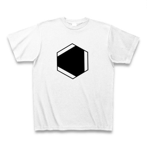 理系Tシャツ【ベンゼン環/内側/白】-(Scien-T'st)Benzen/inside/white