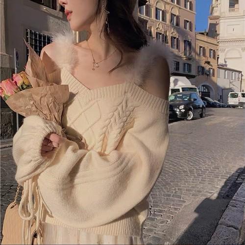 far camisole knit 2color