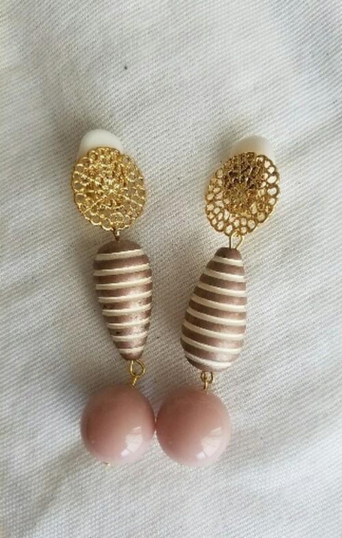 ベイビーピンクのイヤリング