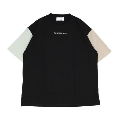 ロゴ刺繍ヘビーウェイトクレイジーパターンTシャツ[BLK]