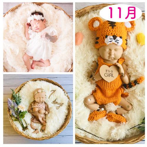 年賀状♡2022年干支♡女の子コーデセット<11月ご出産予定日後半のお客様ご予約枠>