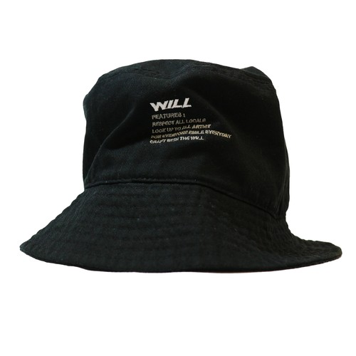 WILL FEATURES BUCKET HAT