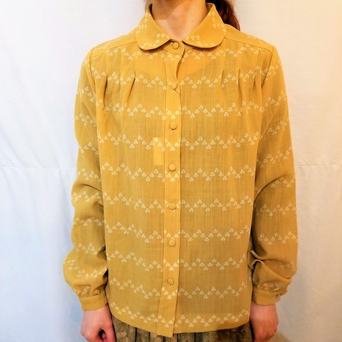 Round collar wool blouse[IK-29]