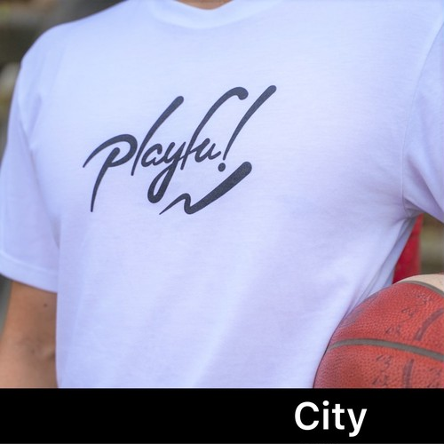 Playful! LOGO TEE City(White)