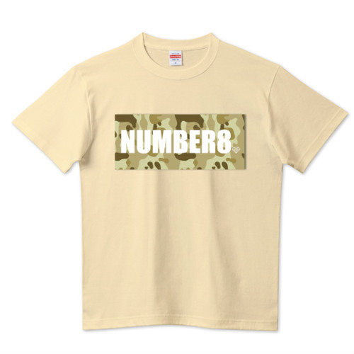 ロゴスモールダイヤモンドTシャツ ナチュラル (ベージュカモフラバージョン) Number8(ナンバーエイト) メンズ レディース キッズ