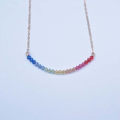 Rainbow necklace(L)
