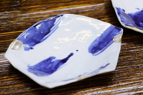 松尾貞一郎 扇型皿 181219K-4 貞土窯(有田焼)