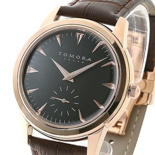 腕時計 ゴールド×ブラウン 文字盤 黒 日本製 東京発 T-1602-PGBK