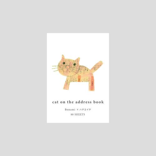 カンバスメモ(cat on the address book)