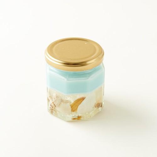 【ローズの香り】貝殻ジェルキャンドル