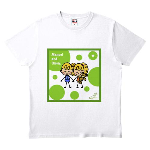 片面プリントTシャツ②