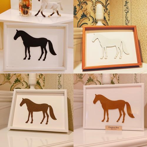 my horse  memory★選べる毛色や馬着のアートホース