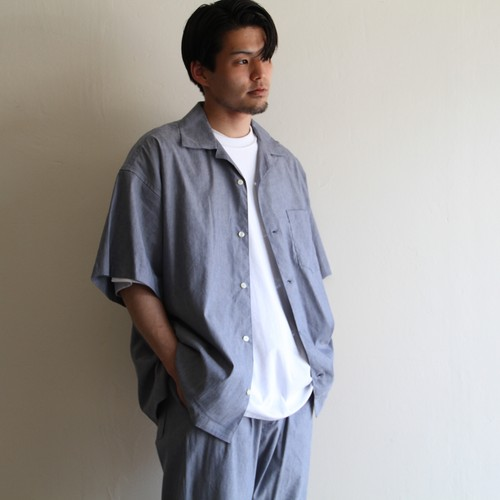 IS-NESS【 mens 】relax open collar shirts