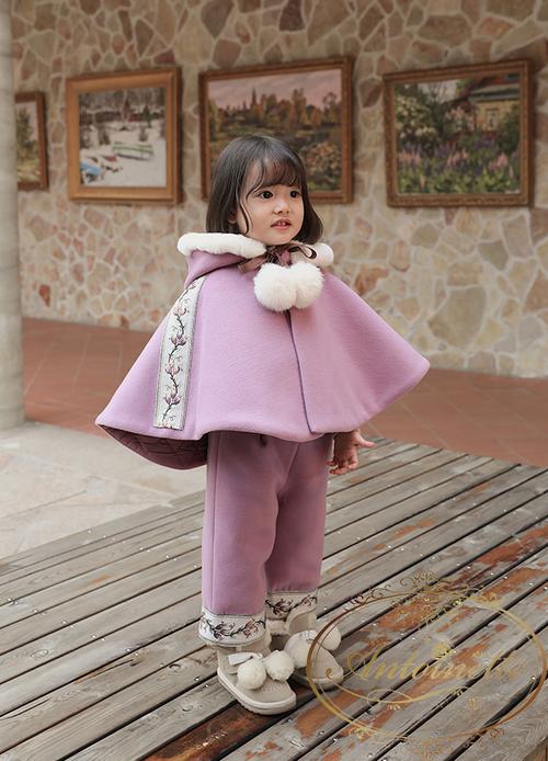 2Color 赤ちゃん ベビー 服 かわいい 韓国 ワンピース 子供服 おんなのこ ポンチョ