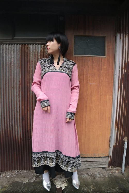 Ethnic embroidered onepiece