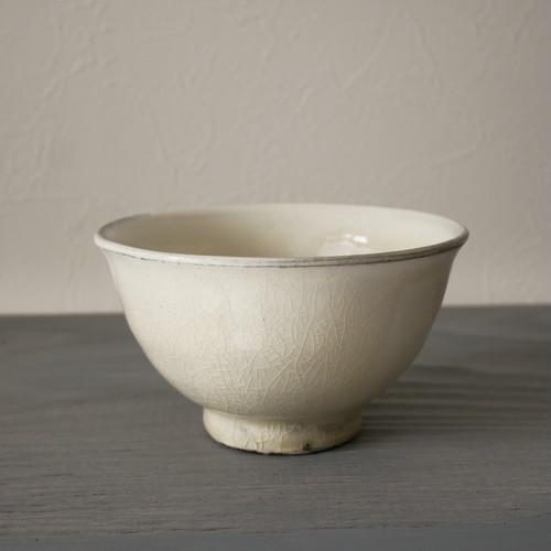 増田勉 粉引玉子手飯碗 Tsutomu Masuda white slipped rice bowl