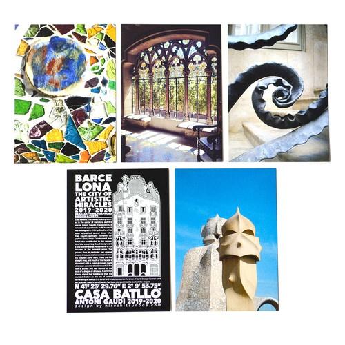 「奇蹟の芸術都市 バルセロナ」展 ポストカード5枚セットG「バルセロナ展限定デザイン②」