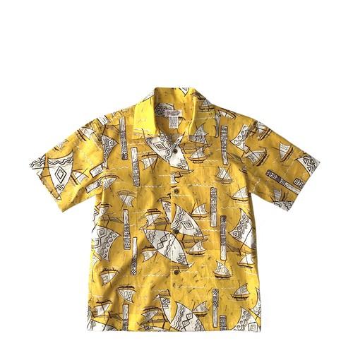 Mountain レディース&ボーイズ オープンアロハシャツ / Great Journey / size XXS 残り1枚